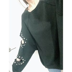 Zara pearl oversized sweater